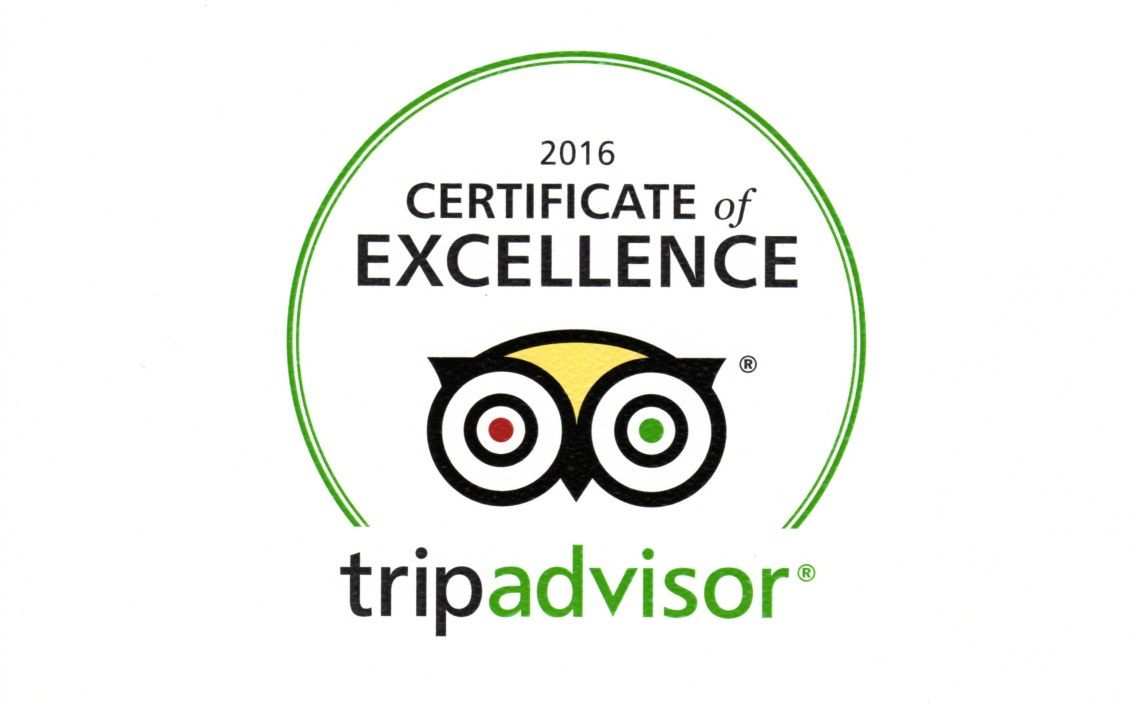 Certificate-of- Excellence -Tripadvisor -2016